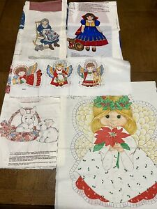 Cut and Sew Fabric Panel lot, Snow White, Angels, Easter Basket, Granny Quilt