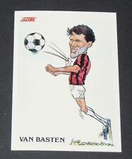 358 MARCO VAN BASTEN MILAN AC ROSSONERI FOOTBALL CARD 92 1991-1992 CALCIO ITALIA