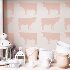 Cow Wall STENCIL - Animal stencils for Crafts Walls Home Decor Stencilling 10050