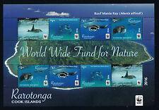 Rarotonga - WWF Reef Manta Ray 2016 Miniature Sheet