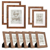 10PCS Wood Photo Frame Set Wall Tabletop Mounted Picture Frames Home Decor Gift