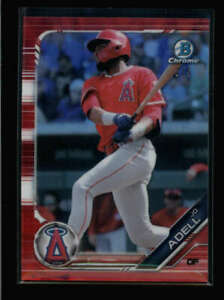 JO ADELL 2019 BOWMAN CHROME #BCP-250 ROOKIE RED REFRACTOR #3/5 FC3593