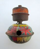 Vintage Old G -TOP MO Baby Spinning Spring Top Unique Fine Litho Tin Toy Japan