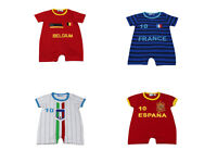 Newborn Infant Kids football kit Baby Boys Girls Romper  Bodysuit Clothes Outfit