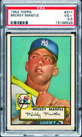 1952 Topps #311 Mickey Mantle Rookie HOF Yankees PSA 3.5 *652412