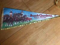 Vintage Felt Flag Pennant Banner Bush Gardens Tampa FL