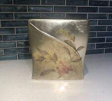 NWT Croscill Ceramic Tissue Box Holder Blue Floral