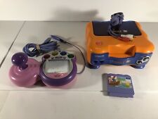 VTech VSmile TV Learning System Bundle With Pink Controller Game Tested Working
