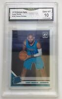 2019-20 Donruss Optic CODY MARTIN Rated Rookie Base Card #181 Hornets GMA 10