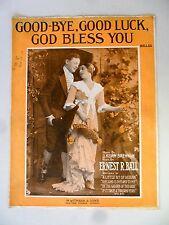 Goodbye Good Luck God Bless You 1916 Sheet Music Brennan Ernest Ball