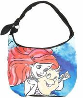 Disney The Little Mermaid Princess Ariel Flounder Fish Hobo Bag Purse Tote New