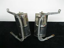 Vintage Universal Stainless Towing Type Mirrors w/ Brackets - Willys Wagon Truck