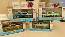 M2 Machines Lot Of 4 1:64 CLASS OF 57 SEE DESCRIPTION WITH CASE BACK DISPLAY
