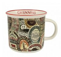 Coffee Mug Guinness Labels Retro Collage Ceramic Mug with Handle Vintage Look