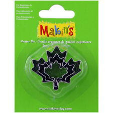 Makin's Clay Maple Leaf Cutter Set, 3 piece
