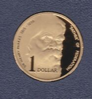 1996 Australia Sir Henry Parkes Father of Federation $1 PROOF Coin ex PROOF Set