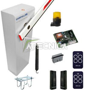 Barrière automatique FAAC GENIUS SPIN 230V kit complet installation pour 3-4-5