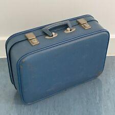 Vintage Blue Hardcase Suitcase Circa 60s Prop Shop Display Storage