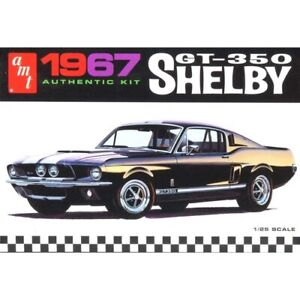 AMT 834 1967 Ford Shelby GT350 Molded Black 1:25 Scale Model Car AMT