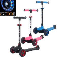 Iscoot Flash Niños Scooter 3 Ruedas con LED Luz Ruedas Y Manillar