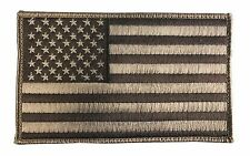"Large 5"" X 3"" US American Flag Patch (Sand) Hook and Look Backing - ODA, SF"