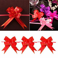 30x Pull Flower Ribbon Bow Gift Wrap Wedding Party Floristry Car Decoration Y7E9