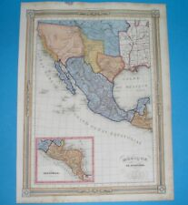 1850 RARE nice ORIGINAL MAP TEXAS & NEW MEXICO as PIPE CALIFORNIA UNITED STATES