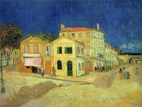 Vincent Van Gogh Yellow House 1888 Old Master Art Painting Canvas Art Print