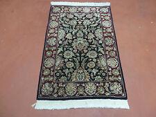 2' x 3' Vintage handgefertigter Persischer Kirman BAM Sarouk Wolle Rug Teppich Nett