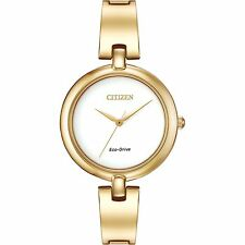 Citizen Eco-Drive Silhouette Bangle Gold Tone Women's Watch EM0222-82A SD