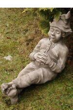 """Schlafender Wichtel """"Bosse"""" by Fiona Scott Steinfigur Vidroflor Gartenfigur"""