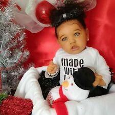 22'' 55cm Reborn Baby Dolls Black Skin Silicon&Cloth Doll Handmade Newborn Dolls
