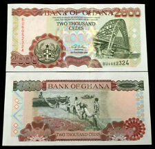 Ghana 2000 Cedis 2003 Banknote World Paper Money UNC Currency Bill Note