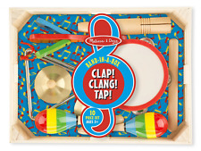 Melissa & Doug Band-in-a-Box Clap! Clang! Tap! - 10-Piece Musical Instrument Set