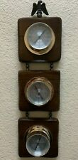 """VTG Springfield Weather Station Thermometer Barometer Humidity Meter 20 x 5 1/2"""""""