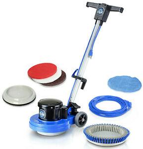 """Prolux Commercial Floor Buffer Srubber and Polisher Machine 13"""" Core w/ All Pads"""
