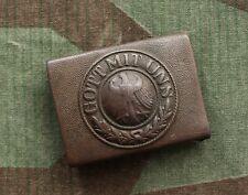Original WW2 Battl. Relic German army Belt Buckle Gott Mit Uns = Weimar = M1921
