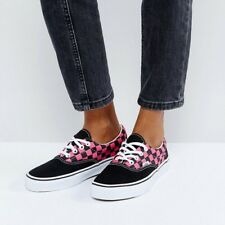 Vans Check Era Trainers, Black/white/pink, Size UK 6