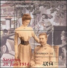Austria 2014 Archduke Franz Ferdinand/Royalty/People/Military/War 2v m/s at1046a