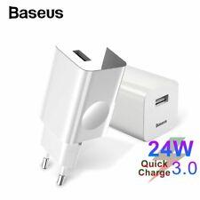 Baseus USB Ladegerät Schnellladegerät Power Adapter Steckdose Für iPhone Samsung