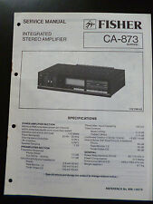 ORIGINAL SERVICE MANUAL Fisher Integrated Stereo Amplifier ca-873