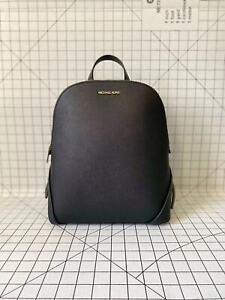 Michael Kors Cindy Large Slim Backpack Saffiano Leather Black Bag