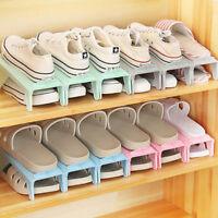 Adjustable Height Heels Shoe Slots Organizer Stand Rack Closet Space Saver Shan