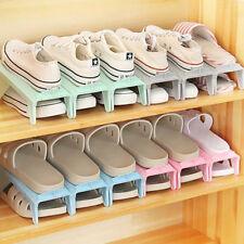 Space Saver Free Shoe Storage Stacker Height Shoe Slots Organiser Adjustable LD