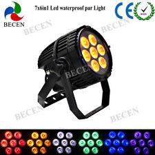 Led Waterproof Par Light IP65 7x18w 6in1 RGBWA UV Led Outdoor Par Can DJ Stage