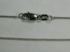 """18Kt 18K White Solid 16"""" 18"""" 20"""" .7mm Dainty Round Wheat Necklace Chain Lobster"""