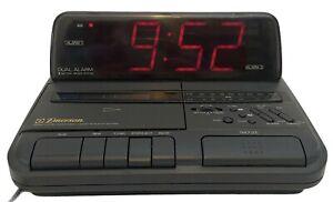 Emerson AK2786N AM/FM Digital Clock Radio Cassette Tape Player Dual Alarm TESTED