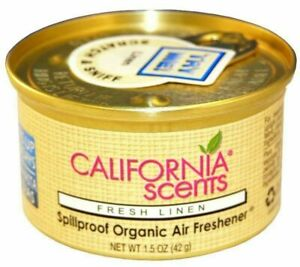 10 Pack Original California Scents Spillproof Organic Air Freshener Fresh Linen