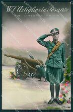 Militari WWI Propaganda Artiglieria Pesante Foto cartolina XF0397