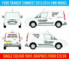 Ford Transit Connect Decals Sign Writing Vinyl Graphics Business Advertising NEW